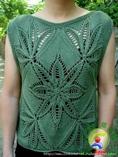 Lace Knitting Patterns, Knitting Designs, Knitting Stitches, Summer Knitting, Knitting For Kids, Crochet Fashion, Beautiful Crochet, Pulls, Knit Crochet