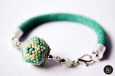 aga opalinska: marzec 2014 Beadwork, Beading, Aga, Turquoise Bracelet, Beaded Bracelets, Jewelry, Beads, Jewlery, Jewerly