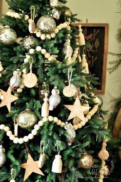 2014 holiday house walk day 1 bead garland christmas treechristmas tree decorationschristmas