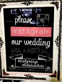 Dile a tus invitados con que # podrán todos ver sus fotos de la boda