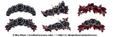 Floralwreath-dark-roses