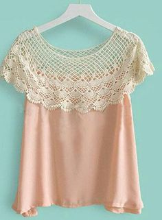crochet collar attached to camisole  ♡