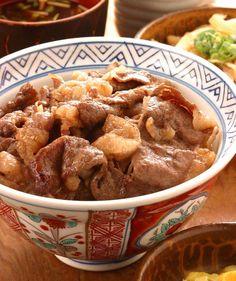 Japanese beef bowl, Gyudon 牛丼