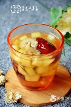 菊花水果茶——瘦身,潤腸通便,護肝,清熱,減肥,養顏,抗衰老