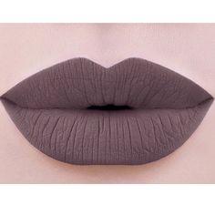 Colouredraine- Dark Goth greyish brown velvet liquid lip paint