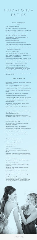 Maid of Honor Duties Checklist | POPSUGAR Love & Sex