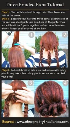Easy Updos for Long Hair | Easy Styles for Long Hair. My only question is: why is she doing her hair outside???  @ http://seduhairstylestips.com