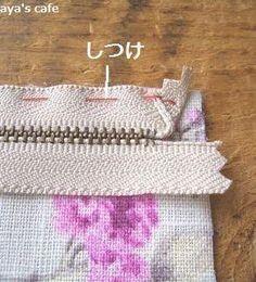 ファスナーポーチの作り方 aya's cafe 手芸材料とフランス雑貨のお店 Sewing Hacks, Sewing Tutorials, Sewing Crafts, Sewing Projects, Patchwork Patterns, Zipper Bags, Sewing Techniques, Handmade Bags, Fabric Scraps
