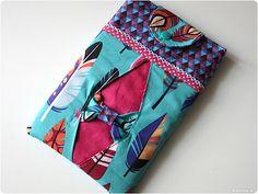 Meine neue iPad mini Tasche Sophie im Fly Feather Design - der Herbst kann kommen :) - Das Schnittmuster mit Nähanleitung gibt es hier: modage.dawanda.de
