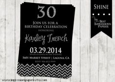 Shine A Customizable Birthday Invitation by ImpressionsPaperie