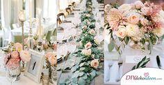Traumhafte Hochzeitstischdeko Ideen für deine Hochzeitsplanung  Welches Mädchen träumt nicht von seiner Hochzeit? An diesem Tag dreht sich alles nur um das