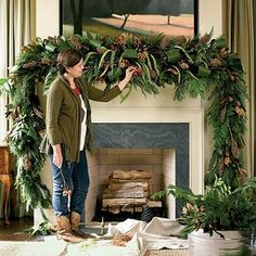 lush sophisticated christmas mantelcomplete how to start with faux greenery
