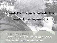 """Acte de presentació del llibre """"Jordi Pujol del relat al silenci"""""""