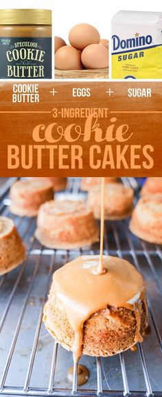 Cookie Butter + Eggs + Sugar = Mini Cookie Butter Cakes | 13 Genius Three-Ingredient Desserts To Make For Thanksgiving