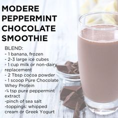Modere Peppermint Chocolate Smoothie #cocoa #chocolate