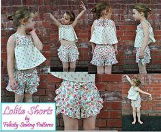 Children's shorts pattern Lolita Shorts pdf by FelicityPatterns
