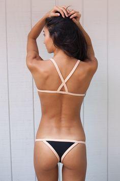 2016 Posh Pua Bikinis Kainalu Brazilian Bottom in Black