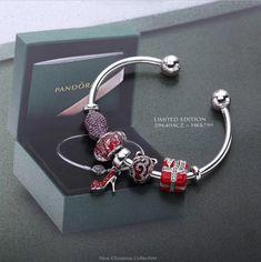 Pandora Christmas red kiss ornament gift murano glass high heel 45424062a2d