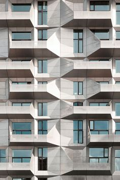andres gallardo captures the geometrical facade of the 'silo building'
