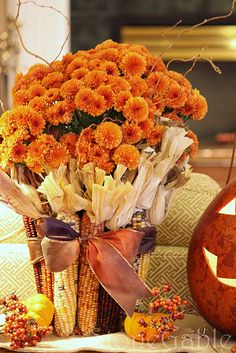 pretty fall decoration