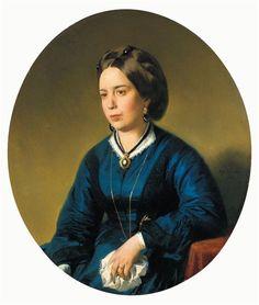 RITRATTO FEMMINILE by Gerolamo Induno (Italian 1827-1890)