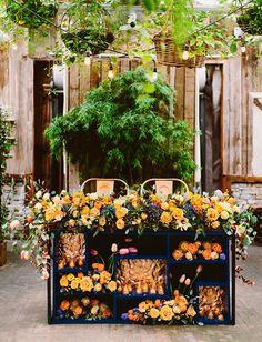 flower filled table
