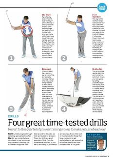 Four great drills to improve your iron play #TipsForImprovingYourGolfGame