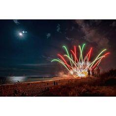 Ferrogosto celebrations on the beach at Camping Ca'Savio, Italy.