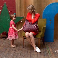 Τσάντα μεταφοράς Babymel Big Slouchy Jumbo Dot Cherry #fashion #diaper #bags #nursery #Babymel