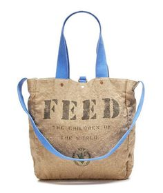 6 Products With a Charitable Purpose (Christmas present idea?) The purchase of this bag provides lunch for 2 children for an entire YEAR!