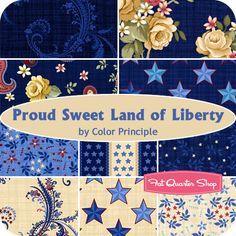 Proud Sweet Land of Liberty Fat Quarter Bundle Color Principle for Henry Glass Fabrics - Fat Quarter Shop