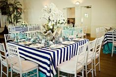 Not a huge fan of tablecloths for every day, but something like this is nice for a party.