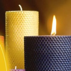 Rolled Bees Wax Candles  Beeswax burns brighter, doesn't drip and actually cleans the air as it burns.