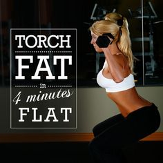 Torch Fat in 4 Minutes Flat - Have you heard about the revolutionary called that continues to burn f - Fitness Diet, Fitness Goals, Rogue Fitness, 4 Minute Workout, Cardio Training, Cardio Workouts, Morning Workouts, Mini Workouts, Workout Routines