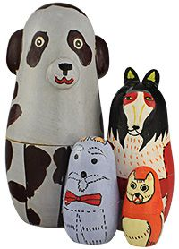 Indian Nesting Dog Dolls --- awwww, fun :). -- purchase benefits animals via The Animal Rescue Site