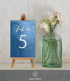 Items similar to Wedding Reception Table Number DIY // Calligraphy on Blue Watercolor Guest Seating Sign Printable PDF // Numbers 1 to 20 ▷ Custom Printable on Etsy Wedding Reception Seating, Seating Chart Wedding, Wedding Table Numbers, Wedding Reception Decorations, Seating Charts, Wedding Decor, Nautical Centerpiece, Nautical Table, Diy Centerpieces