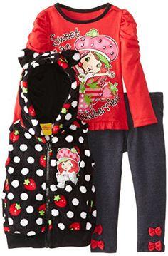 Strawberry Shortcake Little Girls' 3 Piece Polka Dot Vest Pullover and Pant, Black, 2T Strawberry Shortcake http://www.amazon.com/dp/B00D6E5JC6/ref=cm_sw_r_pi_dp_FQuRub1T8F0HG