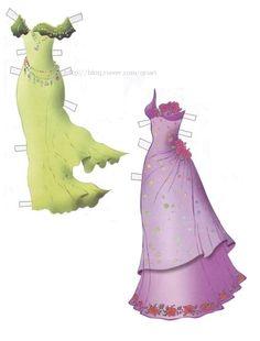 """Ariel paper doll from Disney's """"Little Mermaid"""" (Russian)  (3 of 6)"""