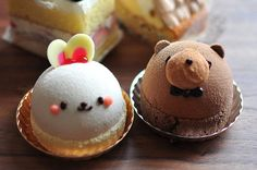 Lots of amazingly delicious sweet dessert recipes including cakes, pies, cupcakes, & so much more! Cute Desserts, Dessert Recipes, Cute Food, Yummy Food, Petit Cake, Kawaii Dessert, Gula, Le Diner, Japanese Sweets