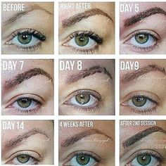 """30 Likes, 4 Comments - Advanced Clinical Skincare (@advancedclinicalskin) on Instagram: """"Keep in mind.. It is a process! Here's what to expect..#microblading #process #skincare #cincinnati…"""""""
