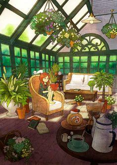 plants everywhere reading room