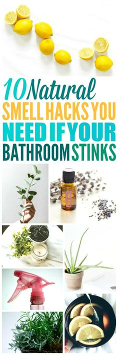 These 10 ways to make your bathroom smell good naturally are THE BEST! I'M so glad I found these GREAT home hacks! Now I have a great way to make my home and bathroom smell really good! Definitely pinning! #homehacks #bathroomideas #lifehacks #DIYcrafts