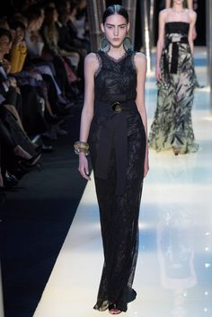 Armani Privé - Spring 2015 Couture - Loving the look, accessories… The ribbon belt…