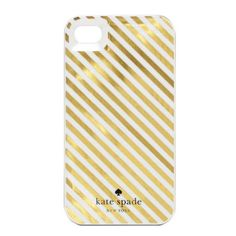 kate spade | diagonal stripe iphone 4 case