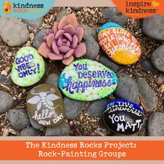 Across the country, rock-painting groups have popped up to join efforts in spreading kindness. Rock Groups, Kindness Rocks, Music Lessons, Love Painting, New Day, Painted Rocks, Cities, Highlights, Give It To Me