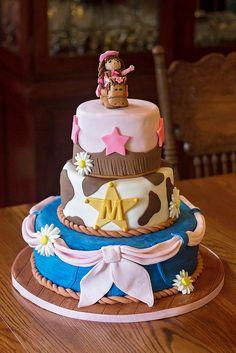 Cowgirl themed cake, Pony cake, western cake