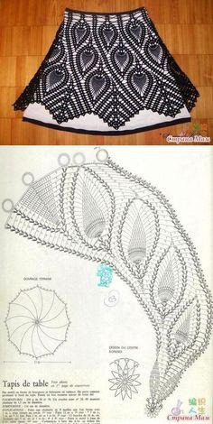 Captivating Crochet a Bodycon Dress Top Ideas. Dazzling Crochet a Bodycon Dress Top Ideas. Diy Crafts Crochet, Crochet Art, Vintage Crochet, Crochet Doilies, Crochet Stitches, Crochet Projects, Vintage Sewing, Crochet Skirts, Crochet Clothes