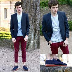 Uniqlo +J Wool Blazer, Celioclub Striped T Shirt, Asos Skinny Jeans, M By Monderer Hybrid Shoes, Only Noa Bracelet