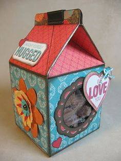 #ctmh alterable milk carton for gift giving using Stella paper, Annette Green