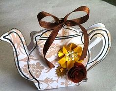 Tea Pot Free Printable Box.